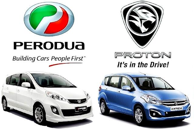 MPV Kompak Proton Ertiga VS Perodua Alza