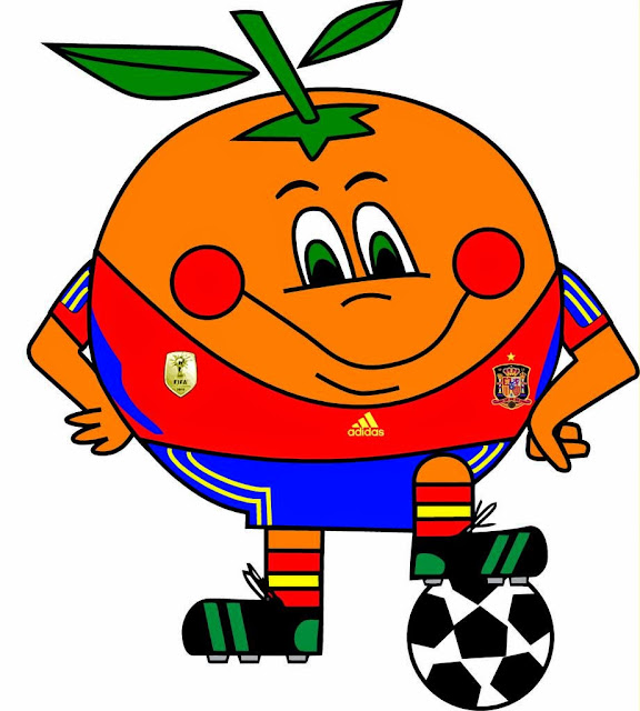 Naranjito Mascota del Mundial de Futbol año 1982 España