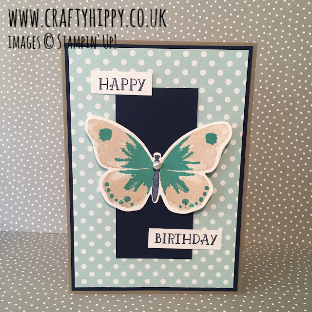 Happy Birthday Butterfly, Number of Years, Watercolor Wings, Stam[pin' Up!