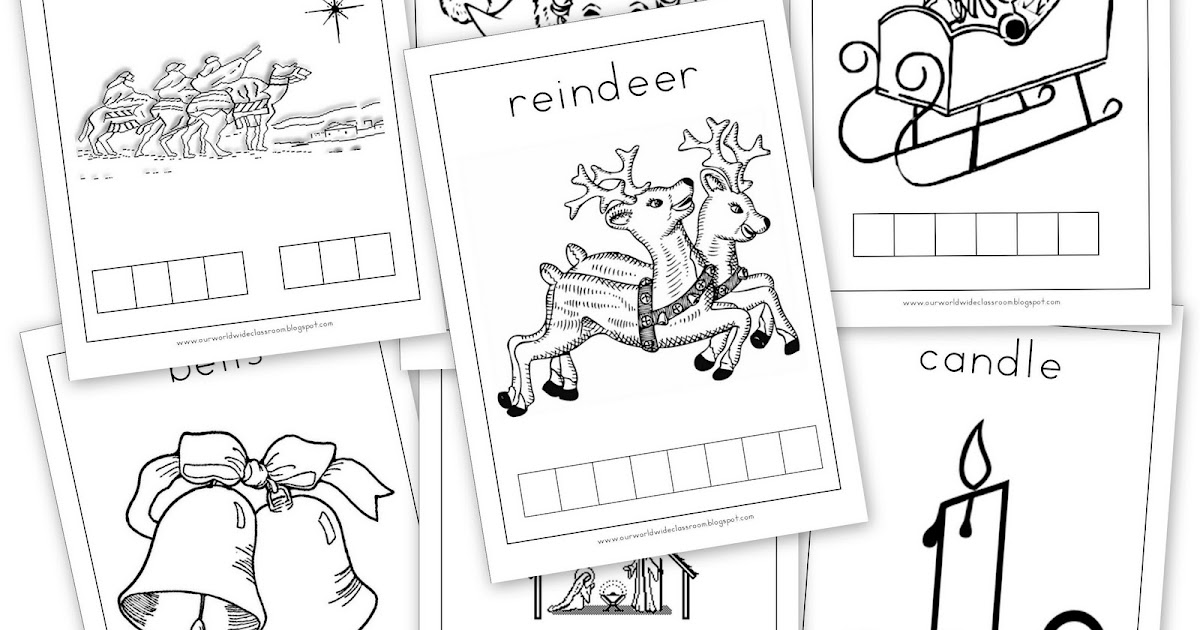Free Printable: Christmas Stamp & Colour Pages