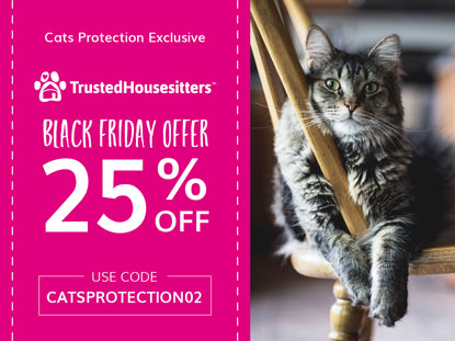 Cats Protection TrustedHousesitters discount code