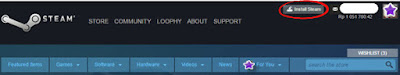 Download dan Install Aplikasi Steam