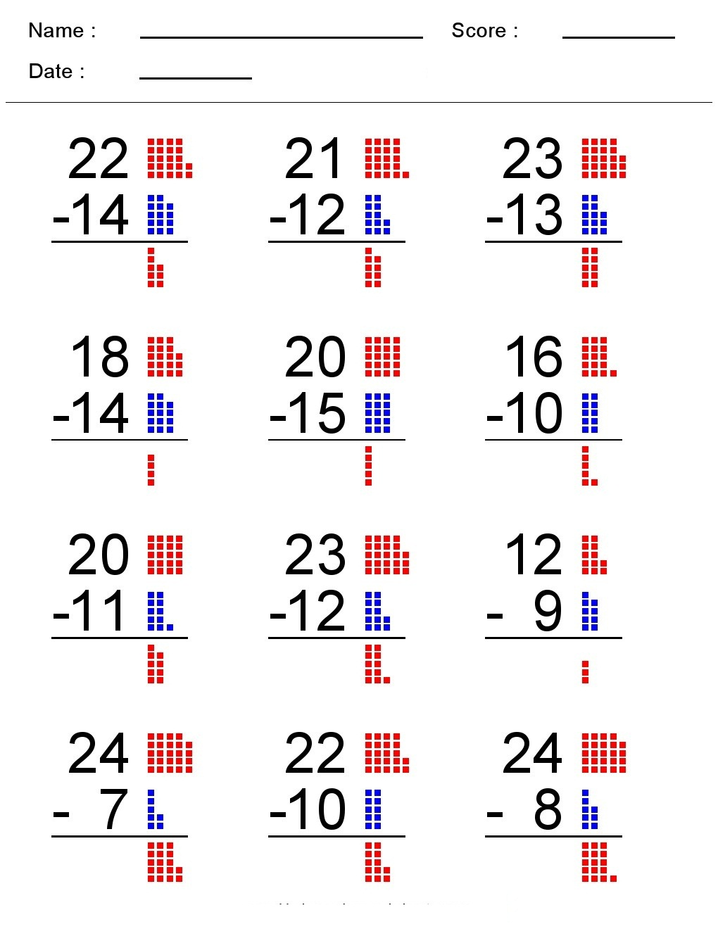 hight resolution of Kindergarten Worksheets: Maths Worksheets - Subtraction worksheets