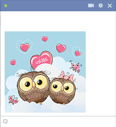 Love Owls in the Clouds Sticker