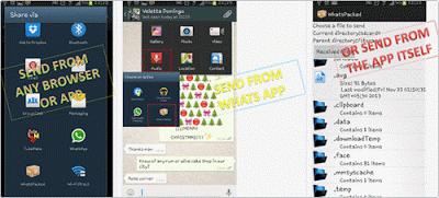 berbagi file ekstensi zip, pdf, apk via Whatsapp