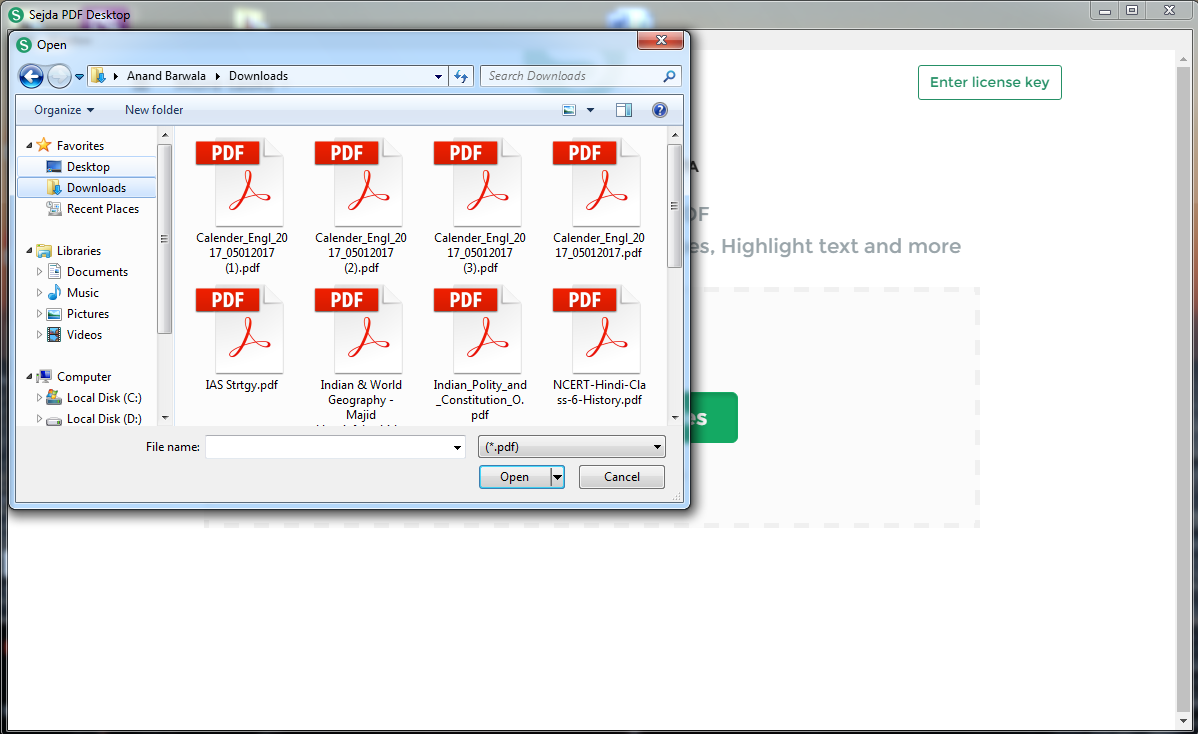 Sejda pdf editor Desktop
