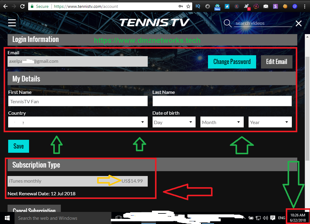 TENNIS TV PREMIUM ACCOUNTS FREE[100% Working with Proof] - DMZ Networks