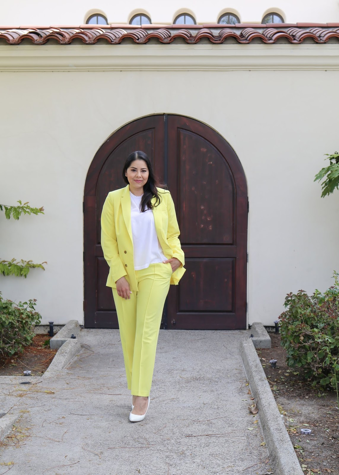 Chic Spring Outfit, Yellow Spring Outfit