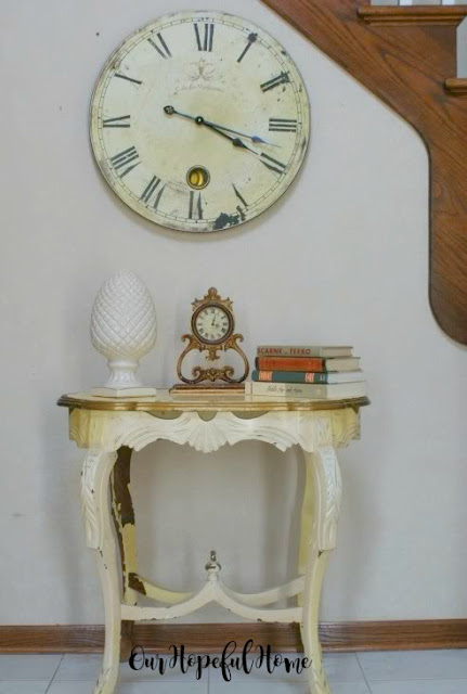 ornate vintage side table thrifted