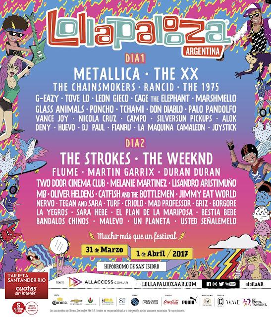 lollapalooza, wild boys, lollapalooza argentina, lollapalooza paris, strokes lollapalooza, duran duran lollapalooza, music lovers, festivals musique 2017, paper gods