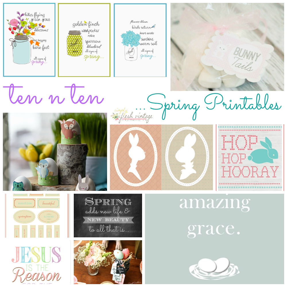 8+spring printables collage1 The Best Wedding, Easter, Spring and More Printables 44