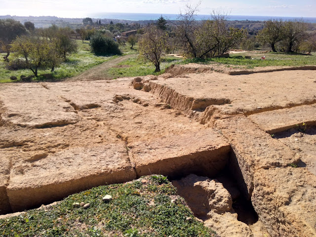 Hellenistic theatre in Agrigento's Valley of the Temples emerges from the earth