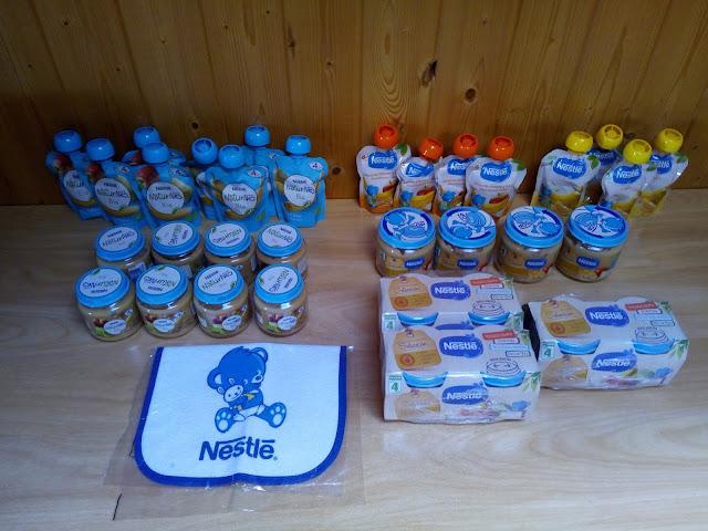 Bolsitas de fruta Nestle y bolsitas de fruta Naturnes bio