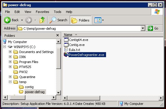 Supratim Sanyal's Blog: Run PowerDefragmenter.exe Executable to launch Power Defragmenter GUI