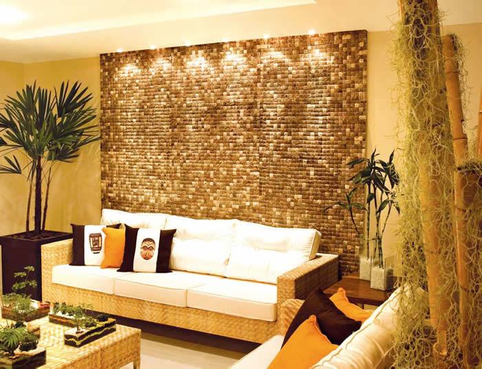 De tudo um pouco por anita luna pastilhas na parede da sala - Paredes modernas para interiores ...