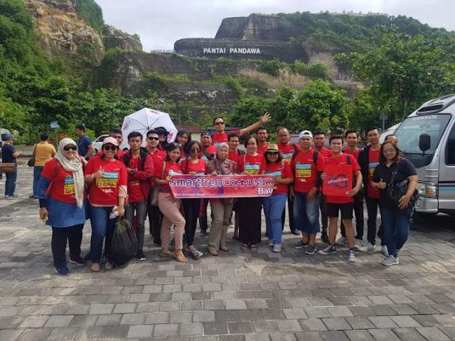 Gathering Smartfren Community Bali 2019 Pantai Pandawa Bali