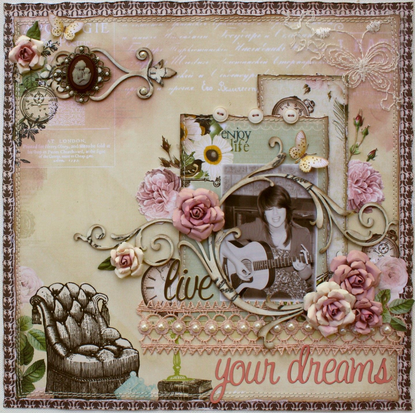 Such A Pretty Mess: Rose Creations Tutorial & 2 Websters