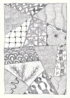 image zentangle rectangle first try