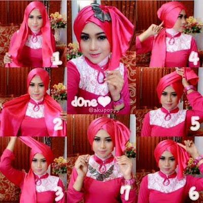 Tutorial Style Hijab Pashmina Turban Kucir