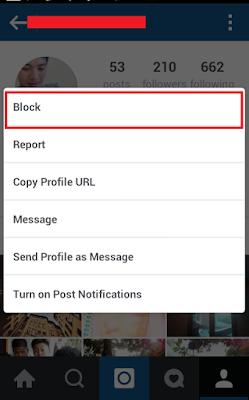 cara mudah blokir akun seseorang di instagram
