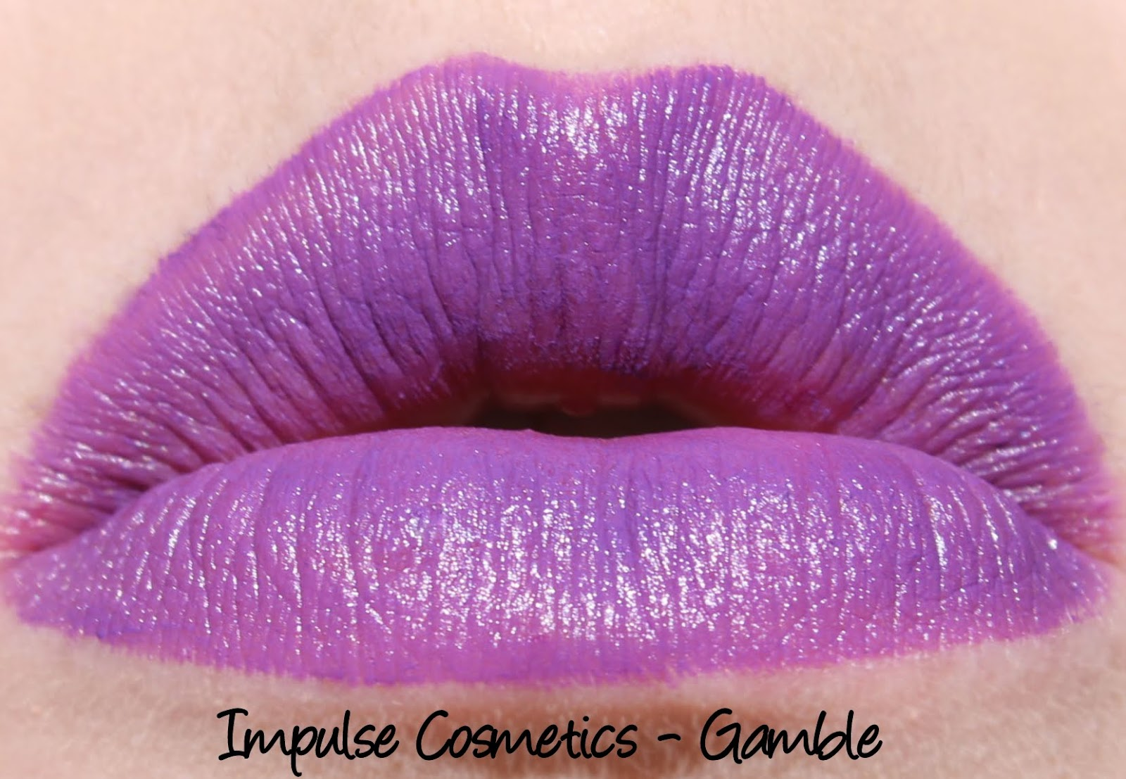 Impulse Cosmetics - Gamble lipstick swatch