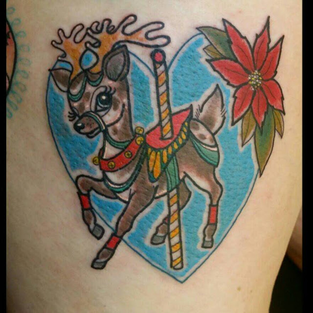 Paula Castle Reindeer Tattoo