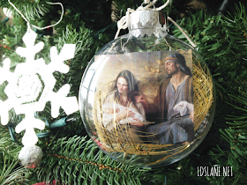 Picture of Christ Ornament Tutorial at Latter Day Lane