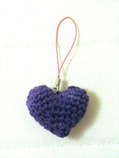 corazón de amigurumi