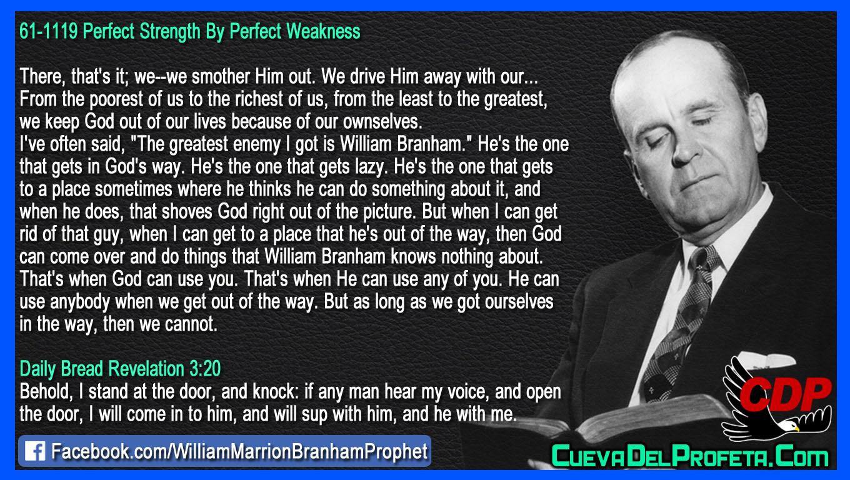 The greatest enemy I got is William Branham ~ Citas | Quotes ...