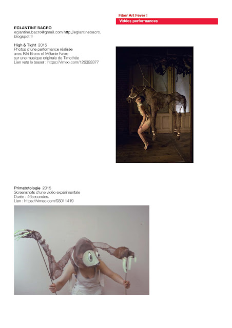 art textile contemporain, vidéo expérimentale, performance textile art et animaux
