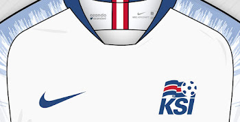hot sale online e57b0 22d65 Nike Iceland 2018 World Cup Home  Away Concept Kits by Ozando