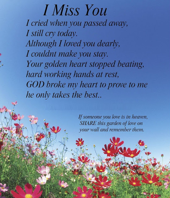 I Miss My Father He Died Quotes: If Someone You Love Is In Heaven, Read And Share This