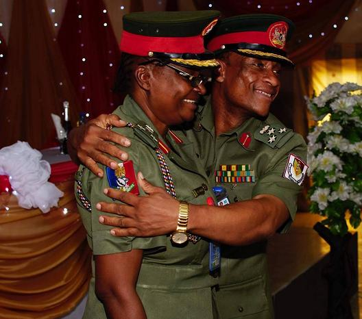 nigerian couple same military rank