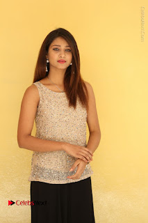 Tollywood Upcoming Actress Arthi Stills in Black Skirt at Plus 1 Movie Trailer Launch  0059.JPG