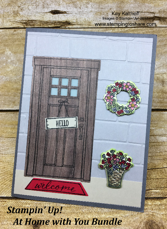 Stampinu0027 Up! At Home With You Bundle For Seasonal Front Door Cards By Kay