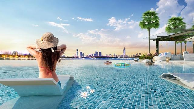 Bể bơi chung cư Vinhomes Phạm Hùng