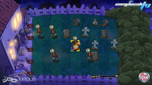 Plantas VS Zombies Xbox 360 Español NTSC DVD9