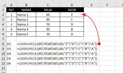Contoh Fungsi-Rumus Lookup Excel 5
