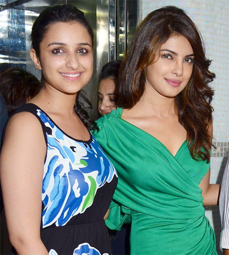 Priyanka Chopra with Parineeti Chopra