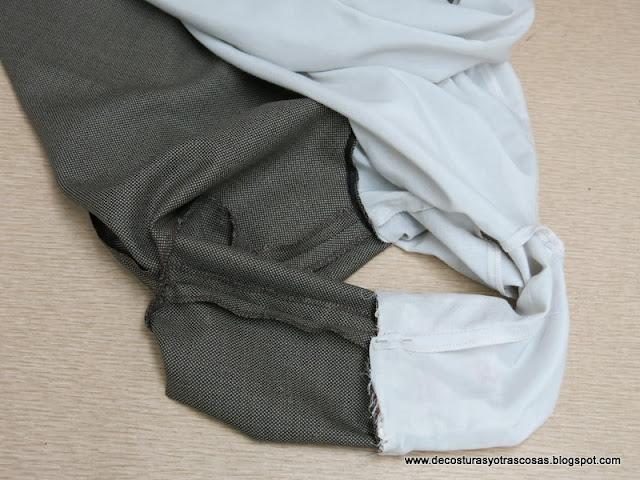 como forrar un vestido completo