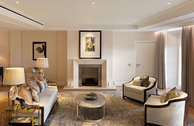 Living room Four Seasons London Hotel Ten Trinity Square