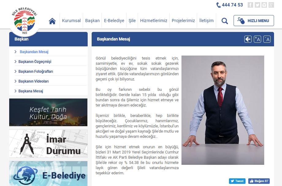 Şile Belediye Başkanı İlhan Ocaklı'dan Mesaj