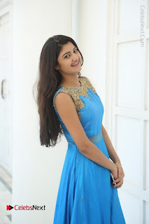 Telugu Actress Akshita (Pallavi Naidu) Latest Stills in Blue Long Dress at Inkenti Nuvve Cheppu Movie Promotions  0027.jpg