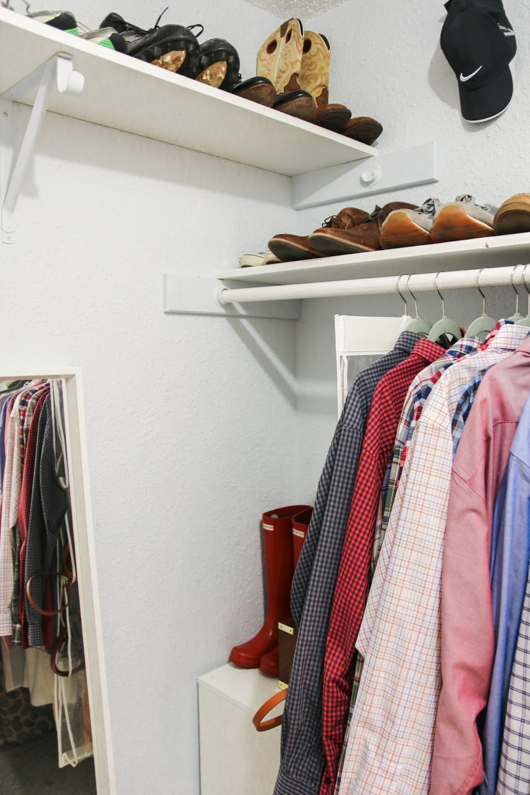 closet organization, closet makeover, home organization, minimalist closet, minimalist wardrobe, before and after closet, budget friendly closet makeover, closet renovation, Austin California closets, Austin blogger, Austin home decor, closet storage