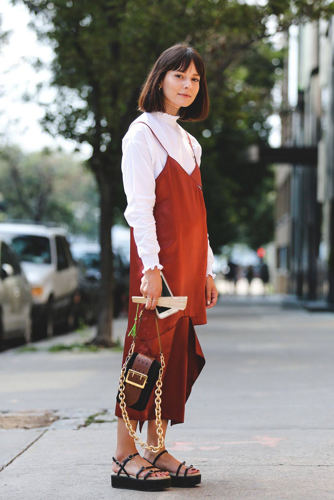 The Cool-Girl Way to Wear a Slip Dress for Fall — @alyssainthecity street style