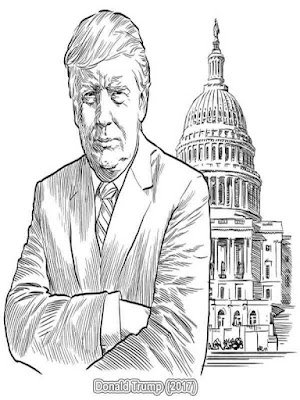 american presidents donald trump coloring pages