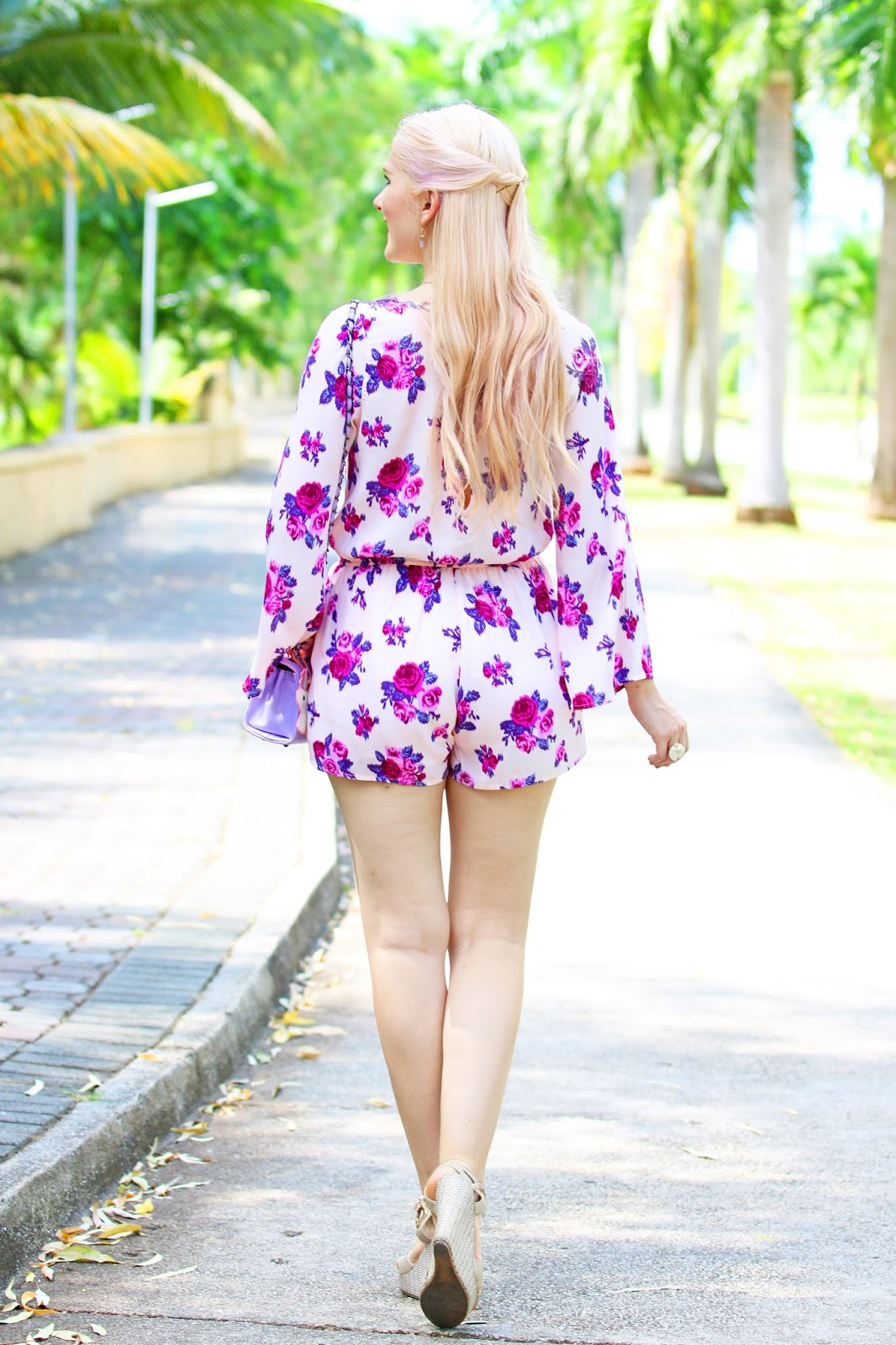Girly Spring Romper Outfit