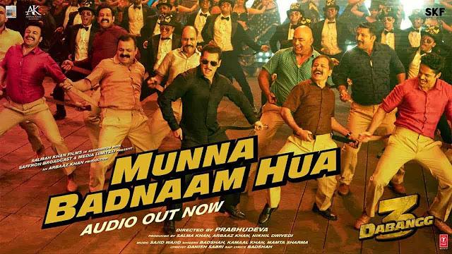 Munna Badnaam Hua Lyrics - Dabangg 3 | Badshah, Kamaal Khan, Mamta Sharma