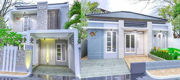Gambar model depan rumah minimalis type 45 2 lantai