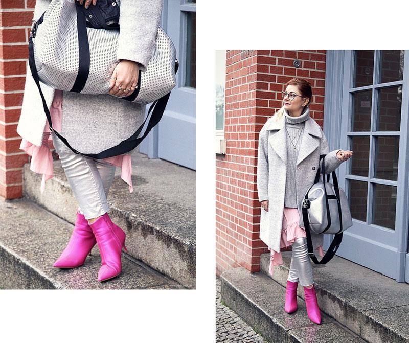 So stylst Du Silber zusammen mit Pink, Fashionweek Look